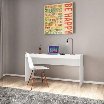 Mesa escrivaninha home office escritório me 401 branco -