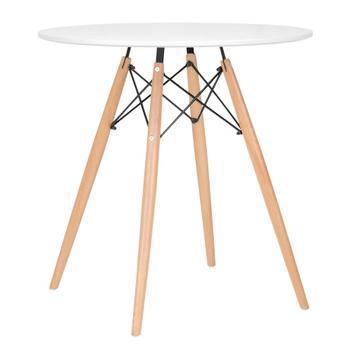 Mesa de jantar redonda eames eiffel - wood - tampo de mdf -