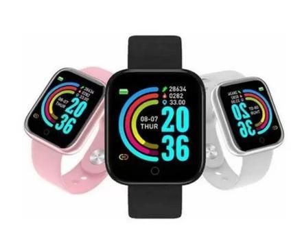 Relogio inteligente smartwatch d20 monitor de batimentos