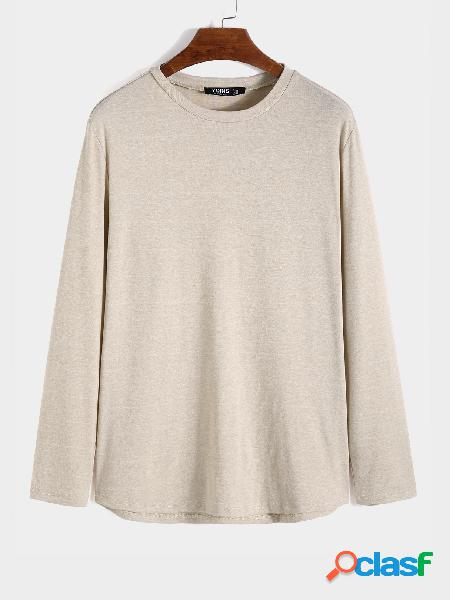 Camiseta masculina casual confortável soft cor sólida