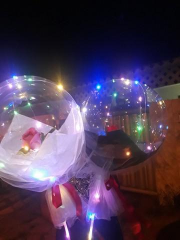 Buquê balão com led