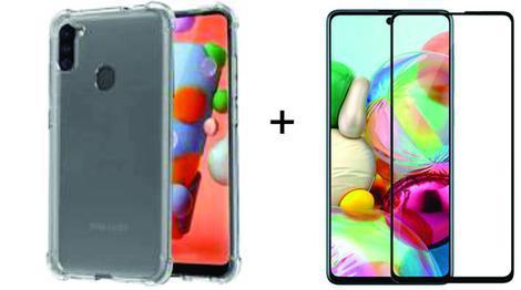 Kit capa transparente anti impacto + 2 películas vidro 3d
