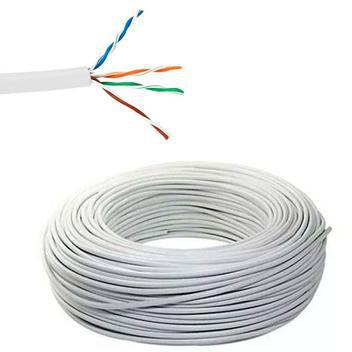 Cabo para rede internet alarme cftv 4 pares de fios - branco