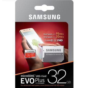 Cartão memória microsd/micro sdhc 32gb evo plus 95mbs