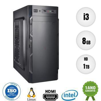Computador pc cpu intel core i3 8gb 1tb bestpc - cpu -