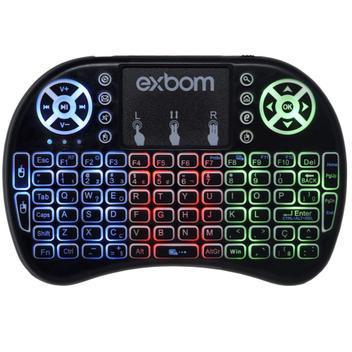 Mini teclado mouse touchpad wireless iluminado wifi sem fio