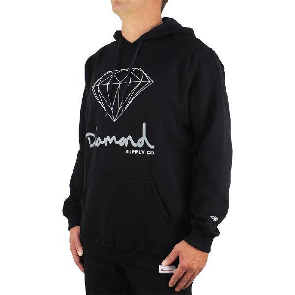 Moletom Diamond OG Sign Hoodie Black - Surf Alive