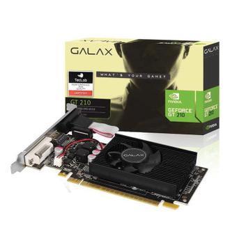 Placa de vídeo nvidia galax geforce gt 210 1gb ddr3 64 bits