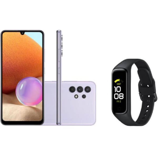 Smartphone samsung galaxy a32 câmera 64mp violeta e