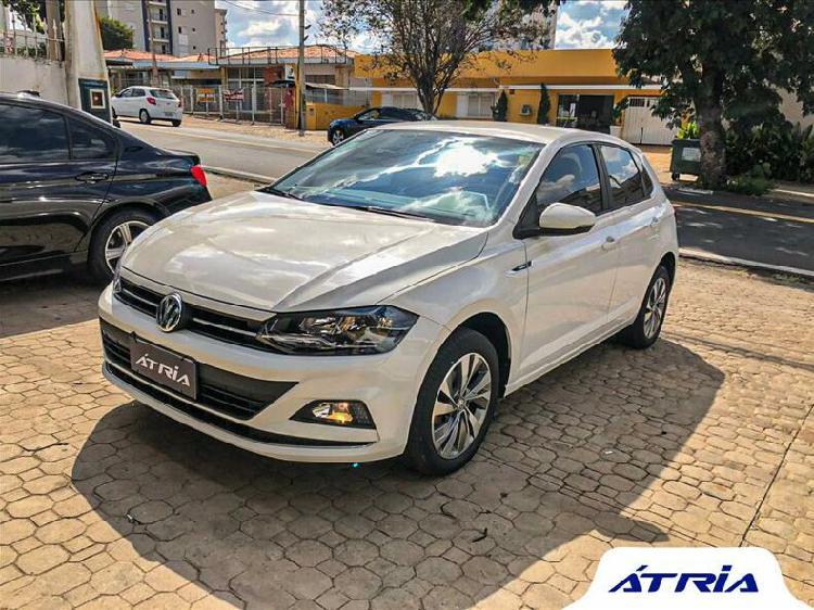 Volkswagen polo hatch 1.0 200 tsi highline branco 2019/2019