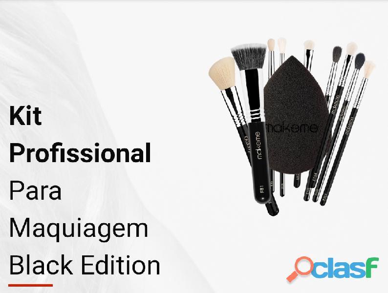 Kit Completo Black Edition   Pincéis de MaquiagemKit Completo Black Edition   Pincéis de M 1