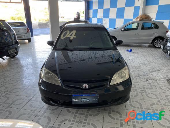 Honda civic sedan lx 1.7 16v 115cv mec. 4p preto 2004 1.7 gasolina