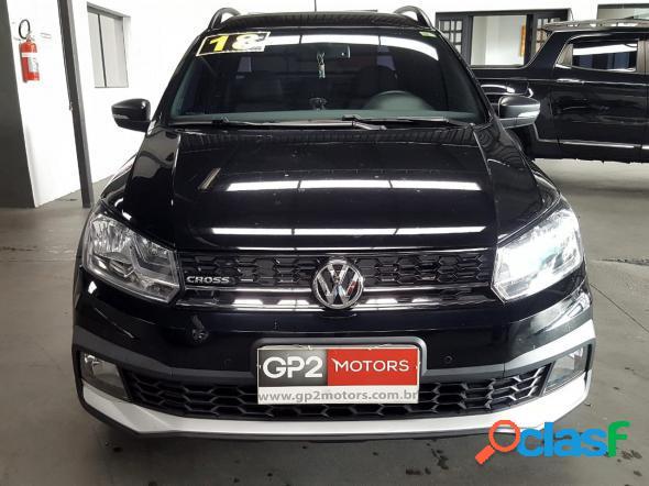 Volkswagen saveiro cross 1.6 t.flex 16v cd preto 2018 1.6 flex