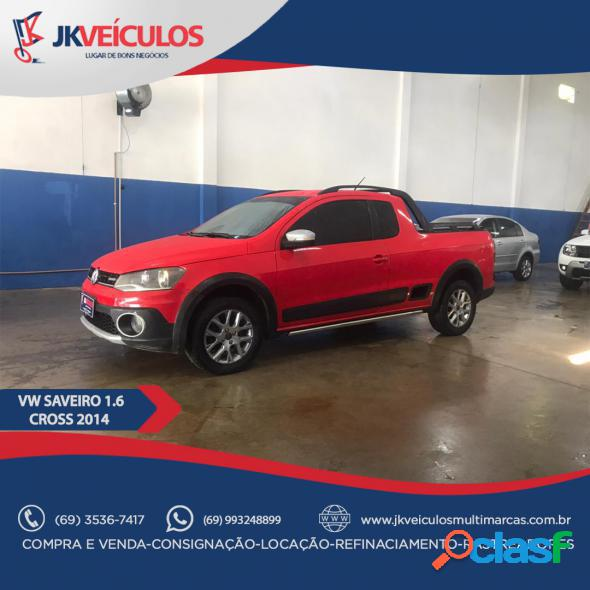 Volkswagen saveiro cross 1.6 mi total flex 8v ce vermelho 2014 1.6 flex