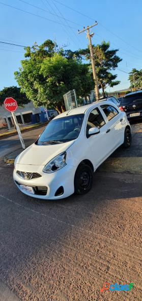 Nissan march s 1.0 12v flex 5p branco 2017 1.0 flex