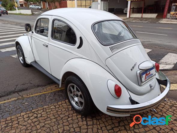 Volkswagen fusca 1300 branco 1974 1300 gasolina