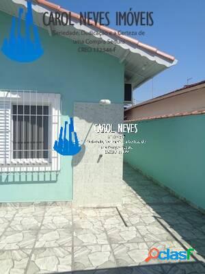 Casa 3 dormitórios + edicula lado praia mongaguá