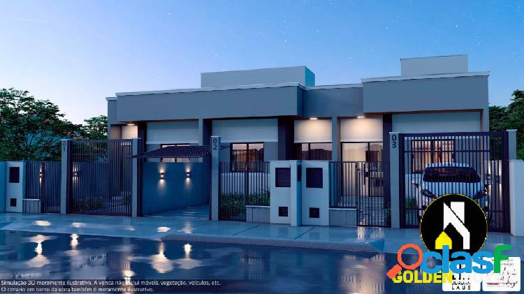 Casa dois dormitórios, sendo um suíte no loteamento dom geraldo, tijucas/sc