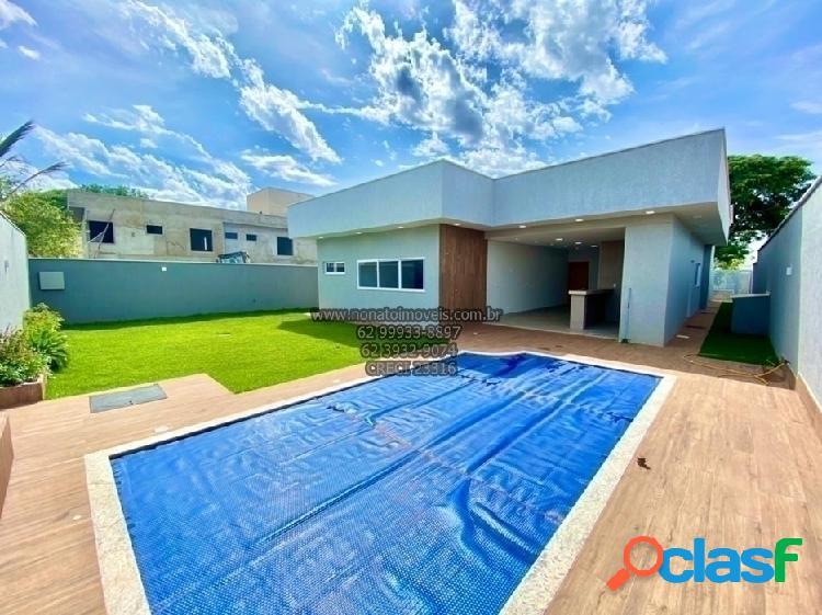 Linda casa condomínio do Lago em Goiânia ! Nunca habitada 3 suítes ! 3