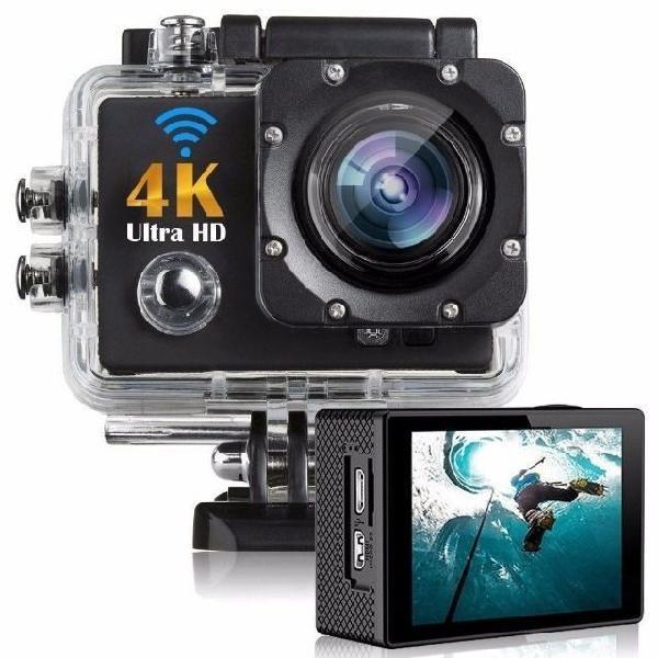 Action câmera digital sport 4k 1080p case a prova dágua