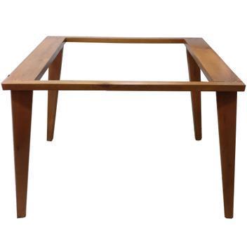 Base londres madeira mesa sala jantar para tampo 160x90cm -