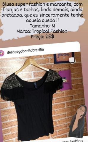 Blusa style tamanho: m marca: tropical fashion