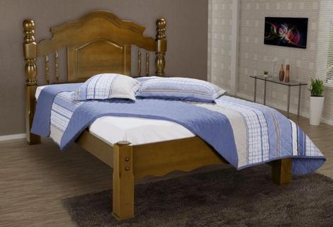 Cama casal madeira maciça andressa saimys - bedroom - cama