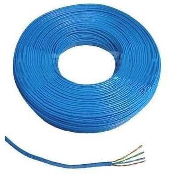 Cabo de rede, internet, alarme ou cftv - 50 metros azul -