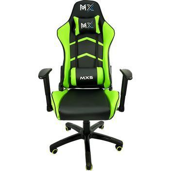 Cadeira gamer mx5 giratoria preto/verde mymax - cadeira