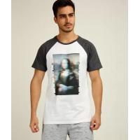 Camiseta masculina estampa frontal manga curta mr <div