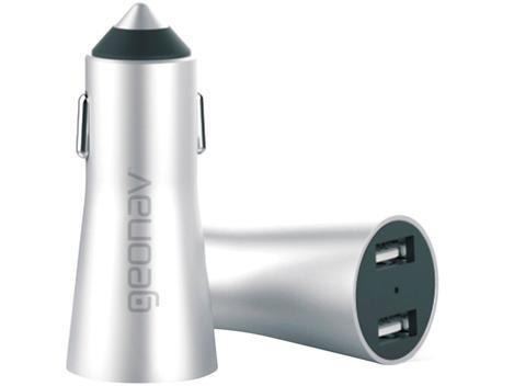 Carregador veicular universal geonav - alumínio -