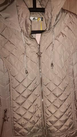 Colete jaqueta feminina sem uso corta vento