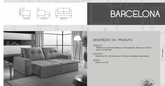 Frete gratis *** sofá retrátil e reclinável barcelona