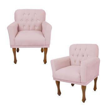 Jogo 2 cadeira poltrona decorativa sala quarto closet anitta