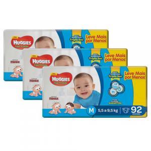 Parcelado] fralda huggies tripla proteção m