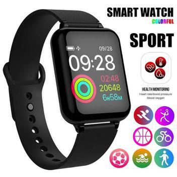 Relógio inteligente b57 smartwatch app hero band iii ios