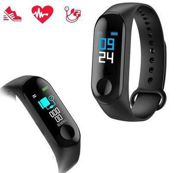 Relógio inteligente smartband m3 monitor cardíaco - bqfast