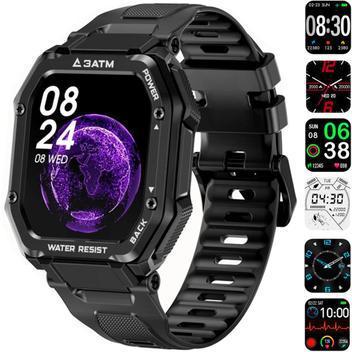 Relógio smartwatch masculino anti shock militar fitness