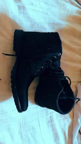 Sapato bota coturno