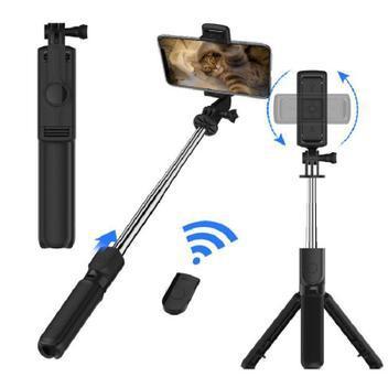 Selfie stick tripé suporte para celular fotos vídeos 2 em