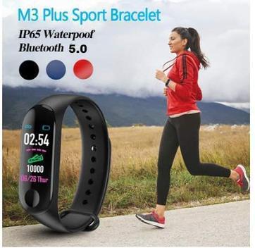 Smartwatch m3 monitor cardíaco relógio - smartwatch e