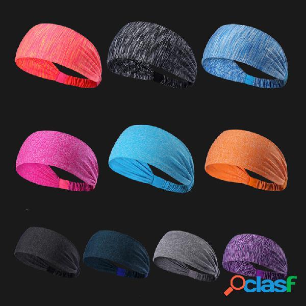 Esportes yoga hairbands lenços antitranspirantes sweatbands de secagem rápida correndo aptidão headband