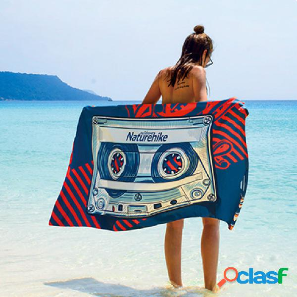 Naturehike nh17y050-m microfibra externa praia toalha secagem rápida soft lenço esportivo ecológico de fiapos