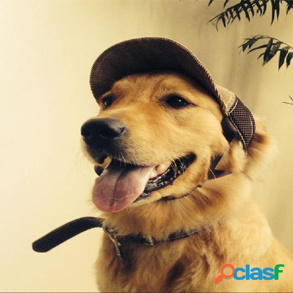 Bola de beisebol ajustável para animais de estimação chapéu viagem ao ar livre chapéu proteção solar de verão cachorro c
