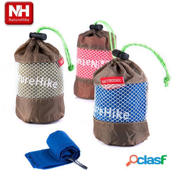 Microfibra de secagem rápida naturehike toalha esporte antibacteriano para viagens ao ar livre toalha