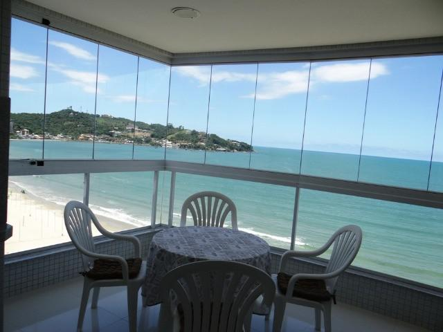 Apartamento frente praia climatizado 3 suites - 2 vagas