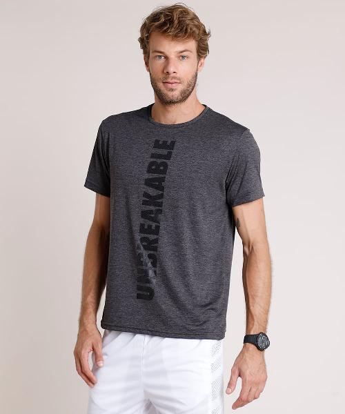 "Camiseta masculina esportiva ace ""unbreakable"""