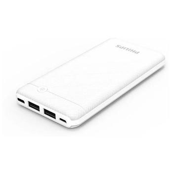 Carregador bateria portátil power bank philips branco