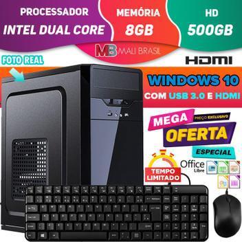 Computador pc cpu intel dual core 3.1ghz com hdmi 8gb hd