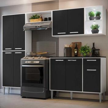 Cozinha completa compacta c/ 2 leds, armário e balcão c/
